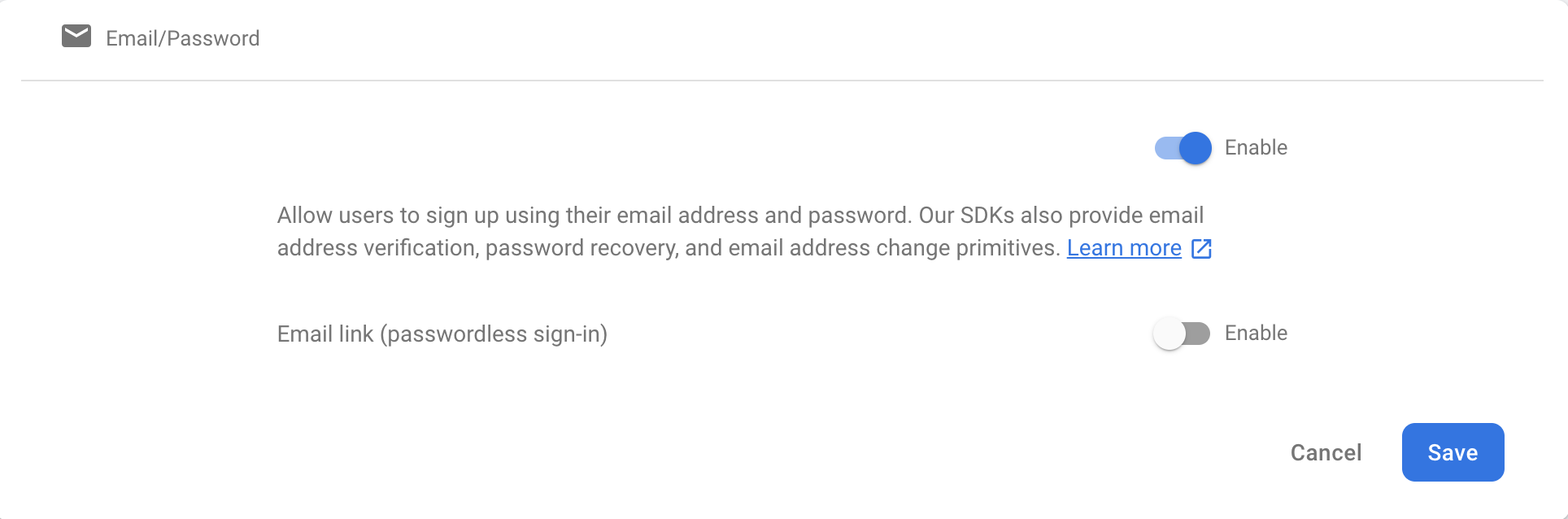 email firebase authentication